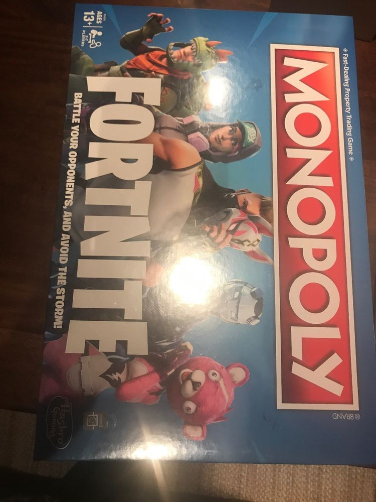 Fortnite Monopoly Board Game Limited Edition Most Wanted Fast Free