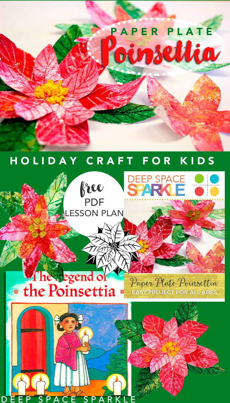 Paper Plate Poinsettia Holiday Craft For Kids Deep Space Sparkle Holiday Crafts For Kids Holiday Crafts Easy Holidays Crafts