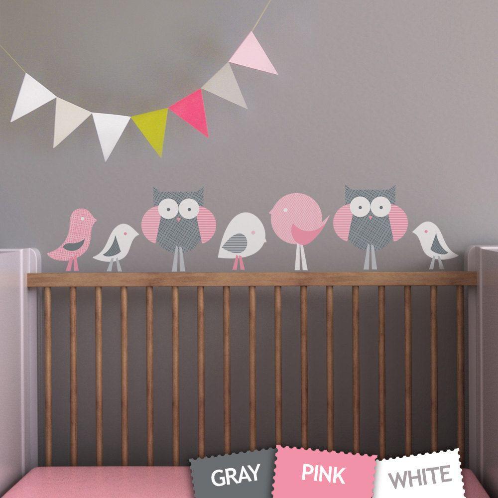 Birds And Owls Children Wall Decal Wall Art Sticker For Nursery