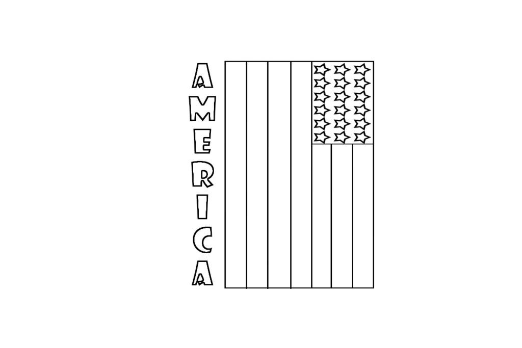 American Flag Coloring Pages Children American Flag Coloring