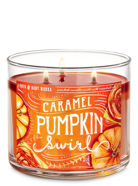 Caramel Pumpkin Swirl 3 Wick Candle Bath Body Works Bath Body Works Candles Candles Bath And Body Works