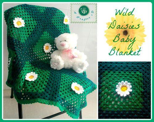 Wild Daisies Crochet Baby Blanket   Crochet Patterns   Pinterest