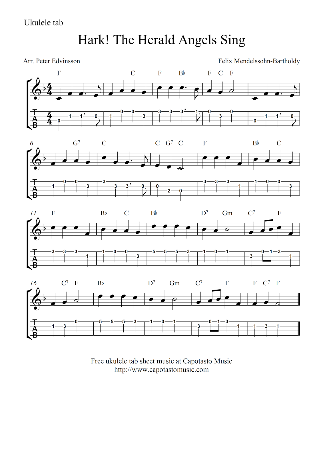 Hark the herald angels sing ukuleleg 11311600 ukulele hark the herald angels sing ukuleleg 1131 hexwebz Image collections
