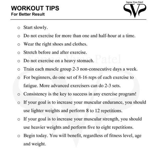 Workout Tips Sapna Vyas Patel Weight Loss Svp Pinterest