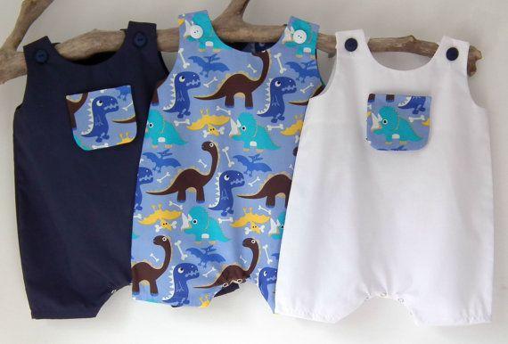 8e54e66cd856 Newborn Baby Boy Clothes Dinosaur Newborn Rompers by PetiteCousine ...