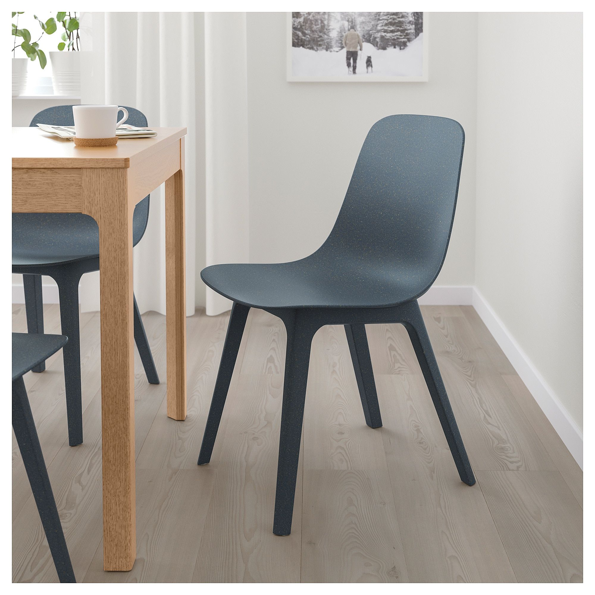 IKEA ODGER Chair blue Retro dining chairs, Dining
