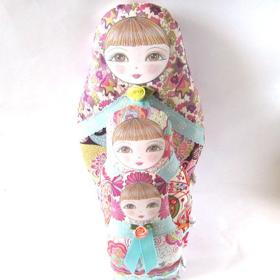 Babushka Matryoshka Cloth Doll Olga Petite size by zouzoudesign, $21.00