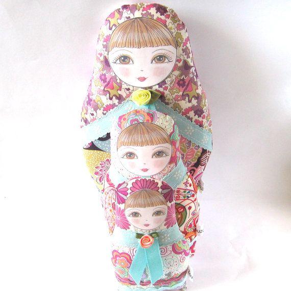 Babushka Matryoshka Cloth Doll Olga Petite size by zouzoudesign, $21.00