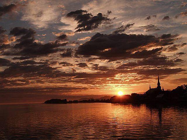 Le lever de soleil du 26 juin à Kamouraska en 2005