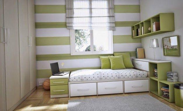 Ide Desain Kamar Tidur Anak Dengan Warna Hijau Dan Putih Design