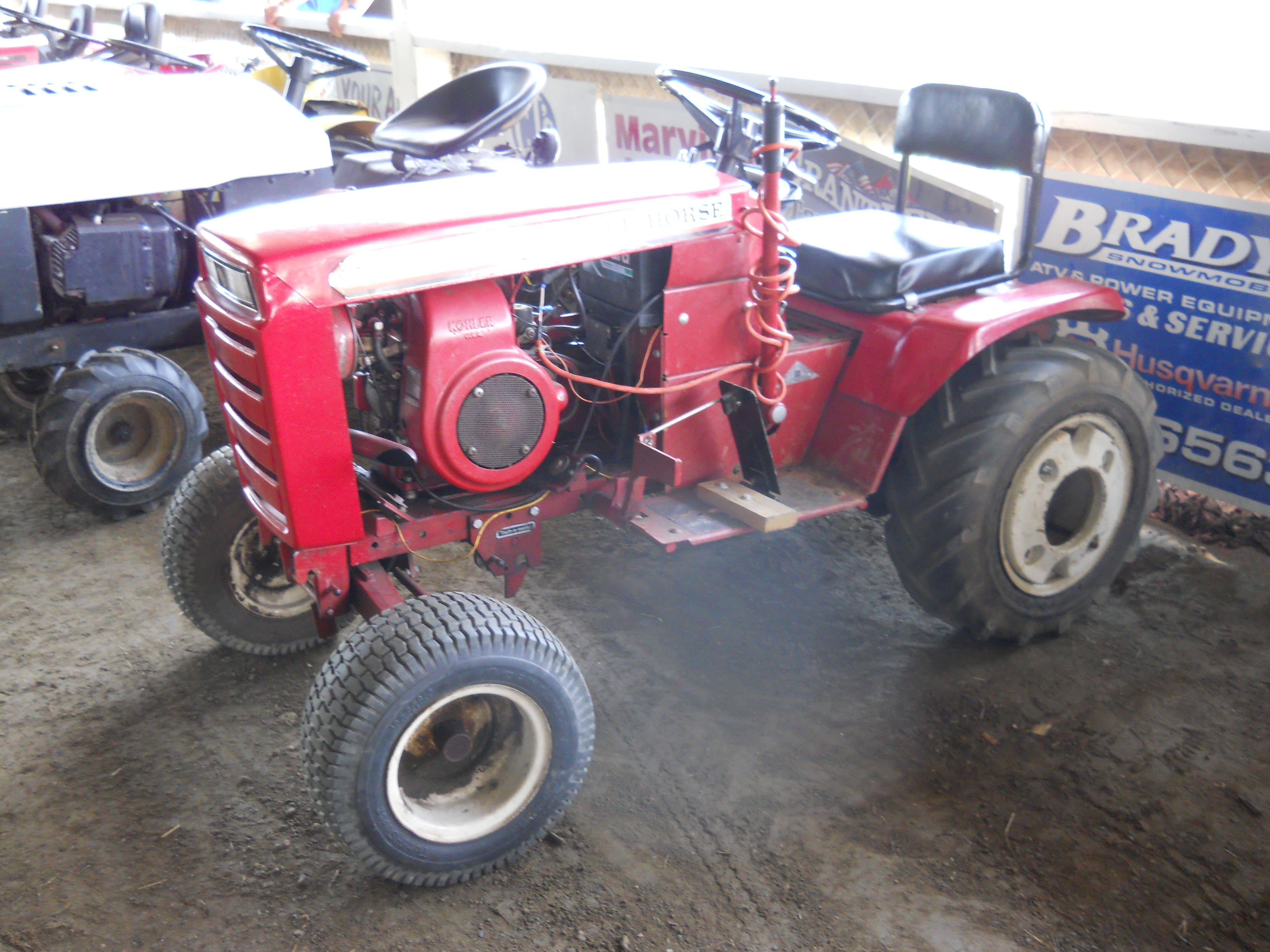 This Wheel Horse Tractor Was Share By A Little Girl And Two Boys In The Competition Pull