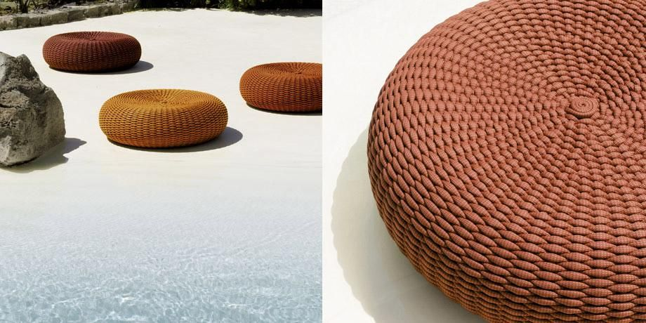 Paola Lenti | Pouf for outdoor environments