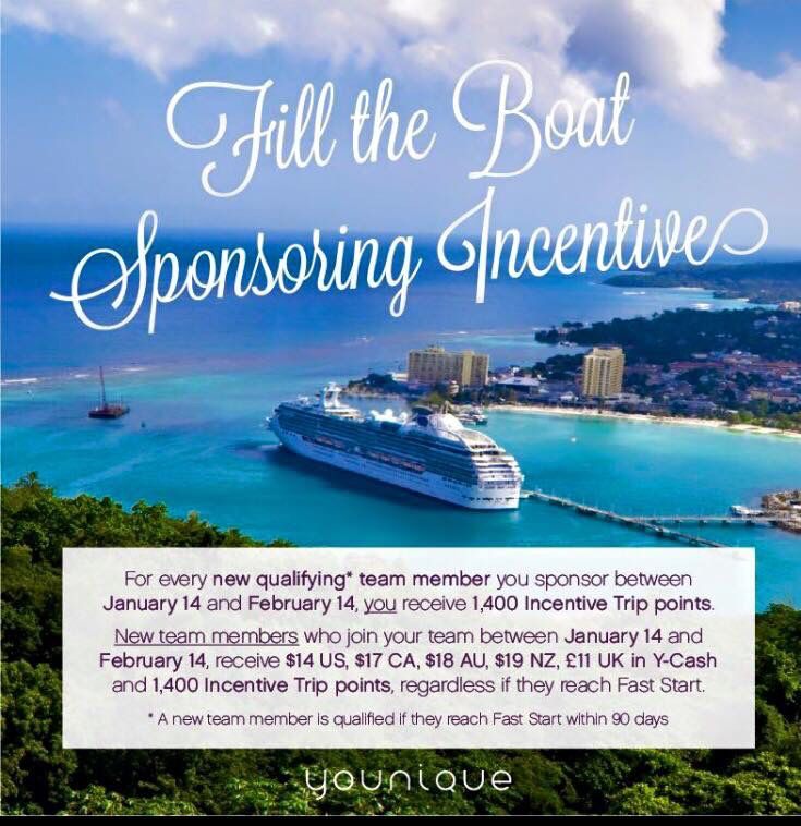 Who wants to go to Jamaica with me?? Join my team between Jan 14th and Feb 14th and you will get a bonus!!! Yippeeee!!! DM me if you want more info:) http://youniquebycandice.com