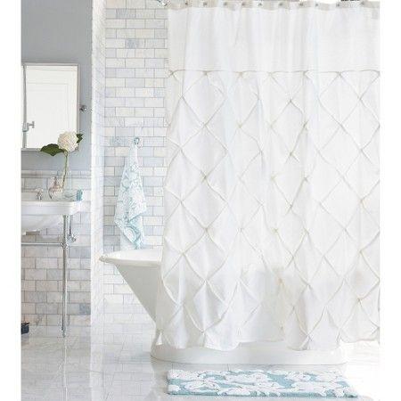white shower curtain target. Threshold™ Pinch Pleat Shower Curtain - Snow White : Target Y