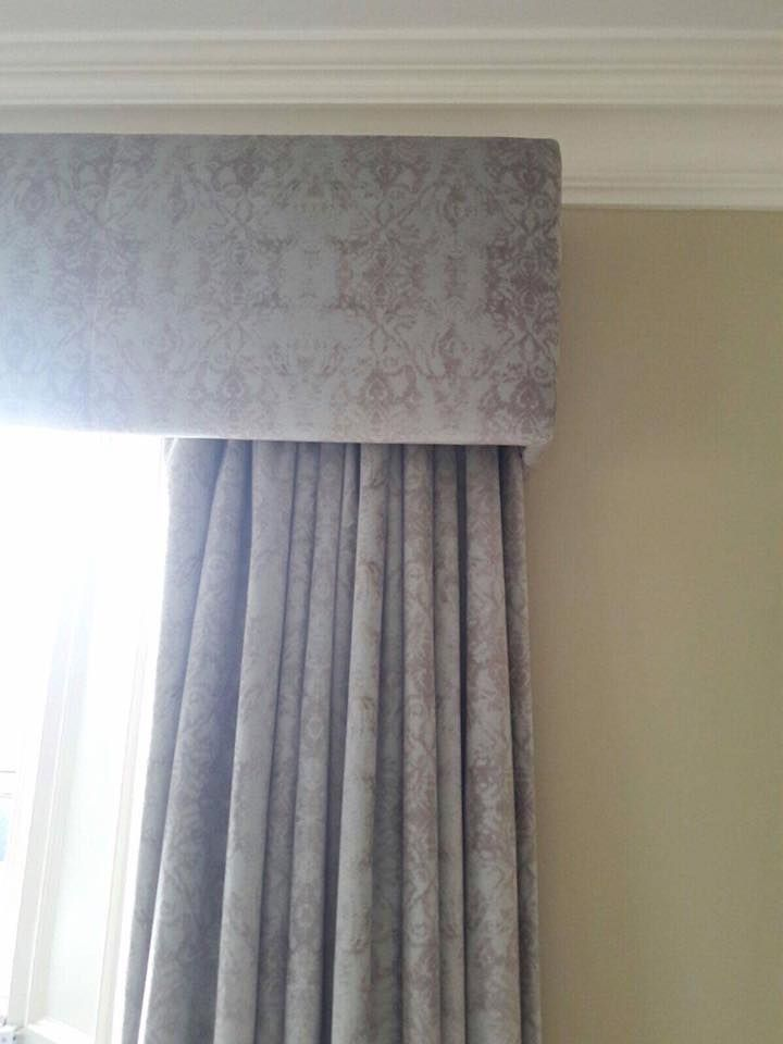 Grey Velvet Curtains And Pelmet
