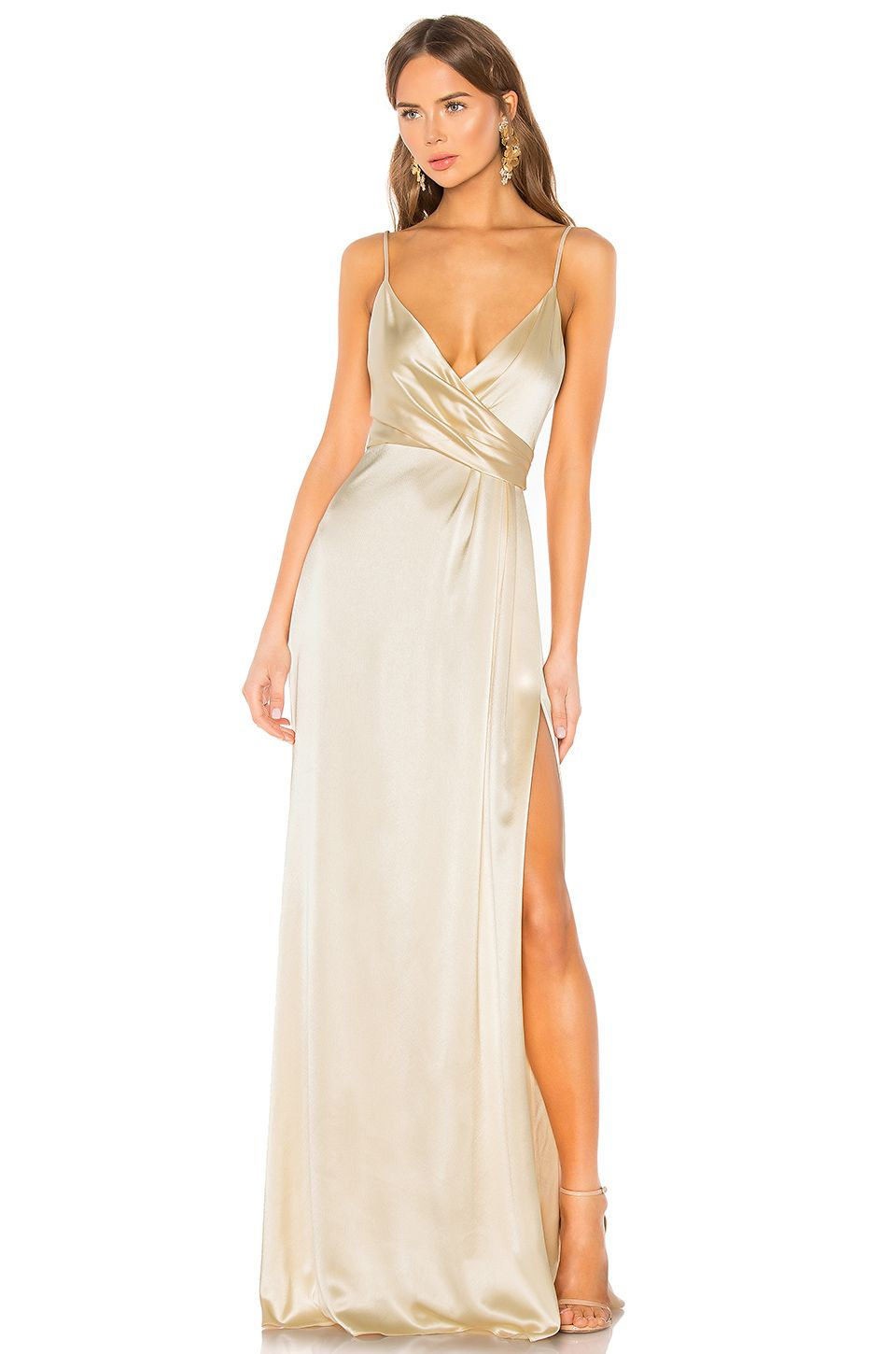 e98e11356d374 JILL JILL STUART Side Draped Slip Gown | All dressed up in 2019 ...