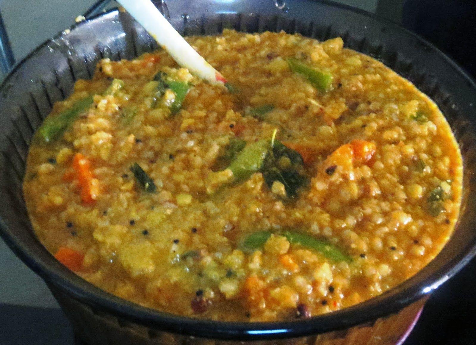 Brown Rice Bisibele Bhat (Rice Khichdi) Recipe Cooking