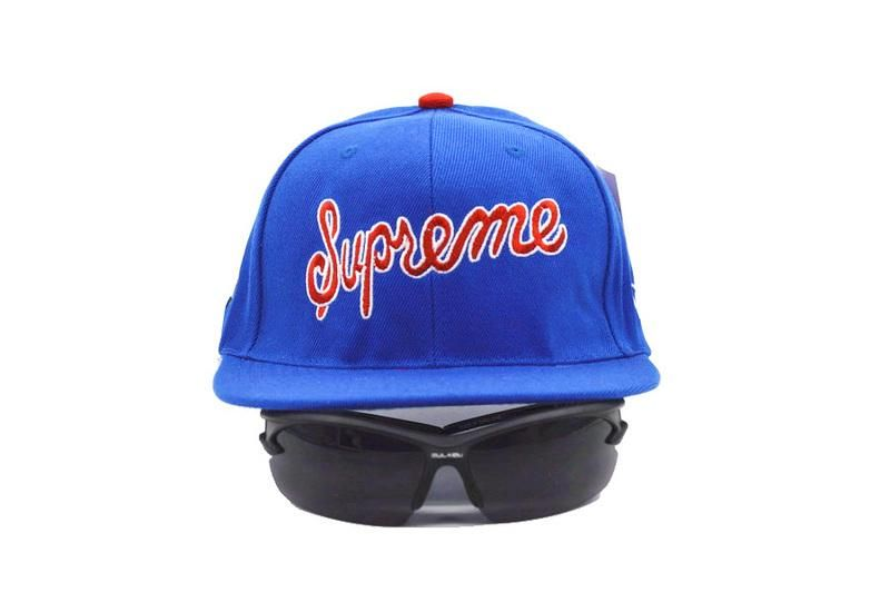 c8d239c7dcf Mens Supreme New Era  1 The Supreme Script Logo Hip Hop Fashion Best  Quality Snapback Cap - Blue
