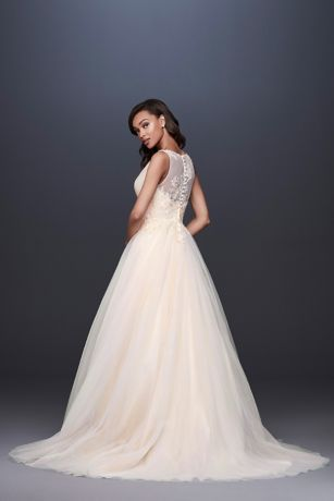 9ac53959 Appliqued Glitter Tulle A-Line Wedding Dress Style WG3930, Soft ...