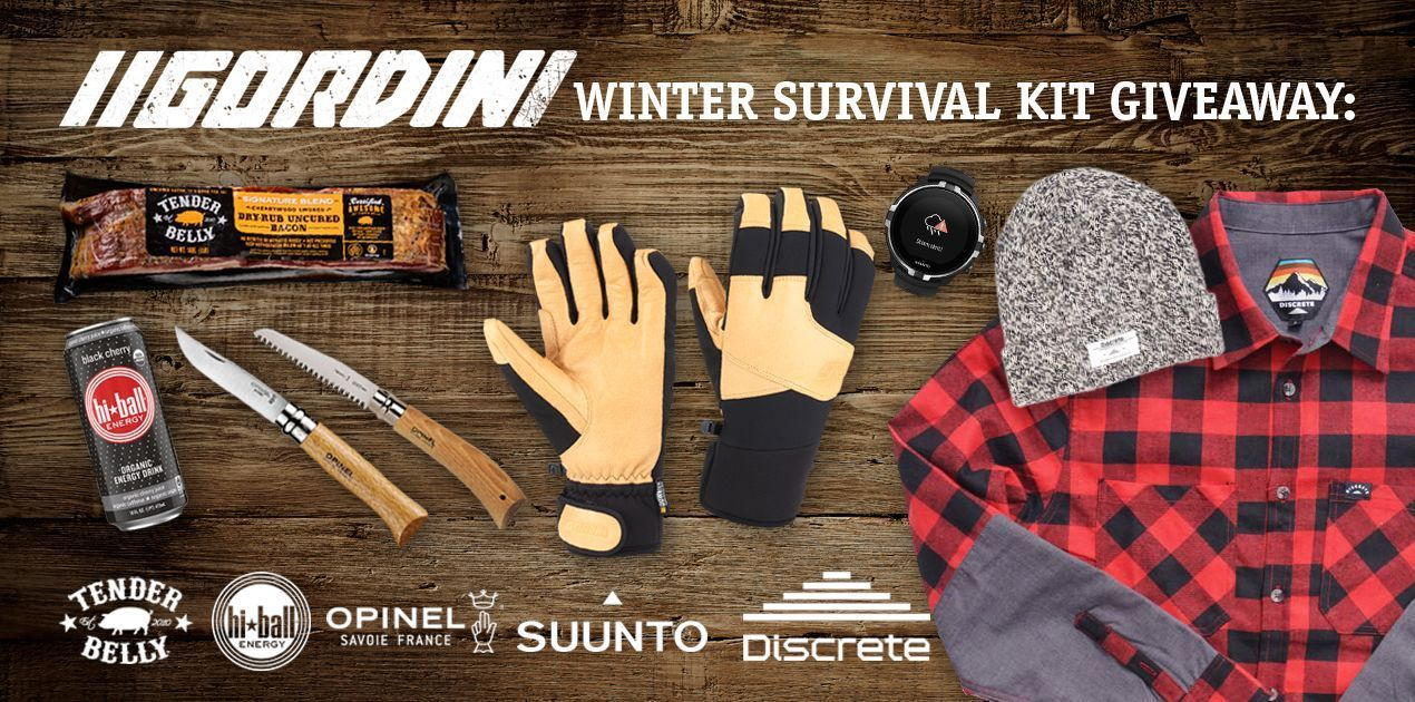 Gordini Winter Survival Kit Giveaway #wintersurvivalsupplies Crisp morning dawn patrols, backcountry adventures in snow-capped mountains, and long winter nights by the fire, there is a lot to look forward to in our favorite season. To celebrate we teamed up with Julian Carr to curate some of our favorite winter essentials. Prize Package includes (a $2000 value): Suunto Spartan Sport Wrist HR Baro WatchYear Supply of Tender Belly Bacon Year Supply of Hi-Ball Energy of your choice Gordini MTN Crew #wintersurvivalsupplies