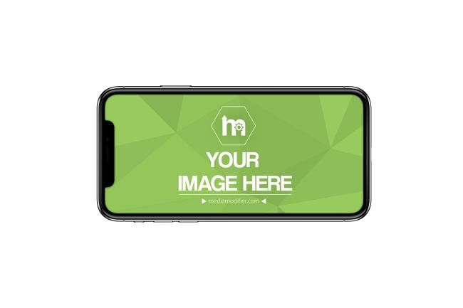Black Iphone X Model Horizontal Landscape View Isolated On A White Background Showcase Your Ios Application Or Website Ios Application Iphone Mockup Generator