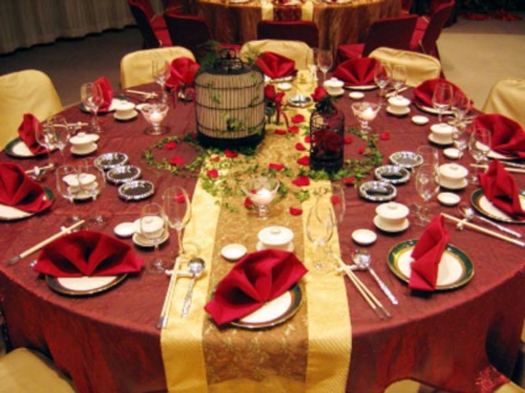 Christmas table decorations red and gold - Red Wedding Table Decorations Ideas Decoration Party Ideas