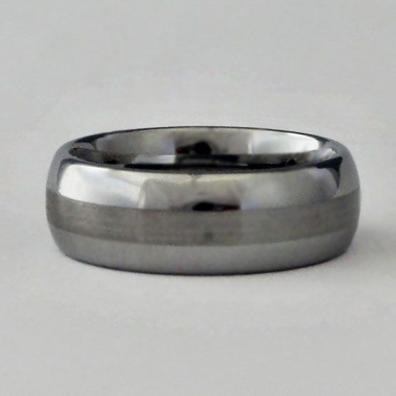 Men S Tungsten Carbonite Ring Carbonite Is The Metal Han Solo Is