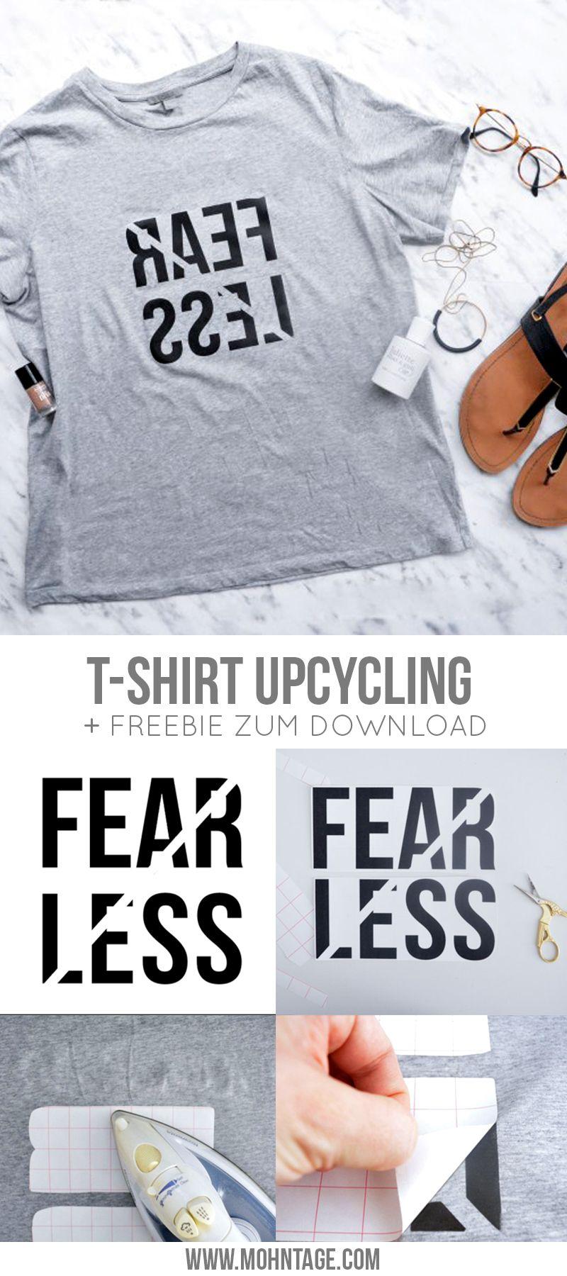 Diy T Shirt Print Als Freebie Fearless Diy Inspiration Und Ideen