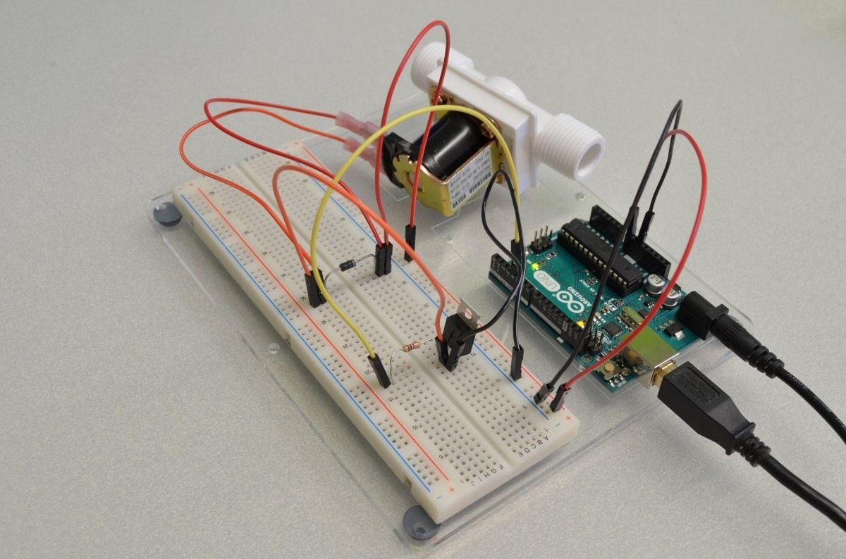 This Tutorial Will Show You How To Hook Up A Solenoid Valve An Attiny Candle Electronicslab Arduino Using