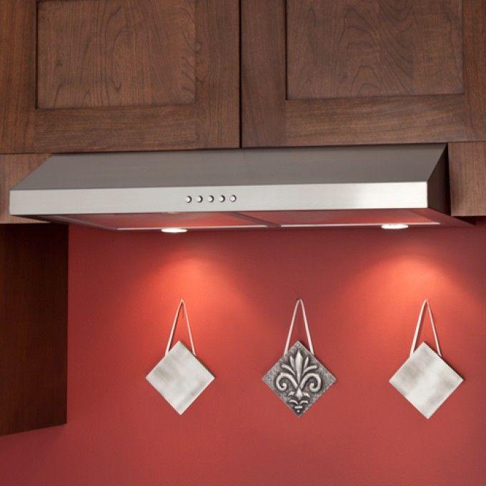 30 Bastia Series Under Cabinet Range Hood 280 Cfm Fan Stainless Steel