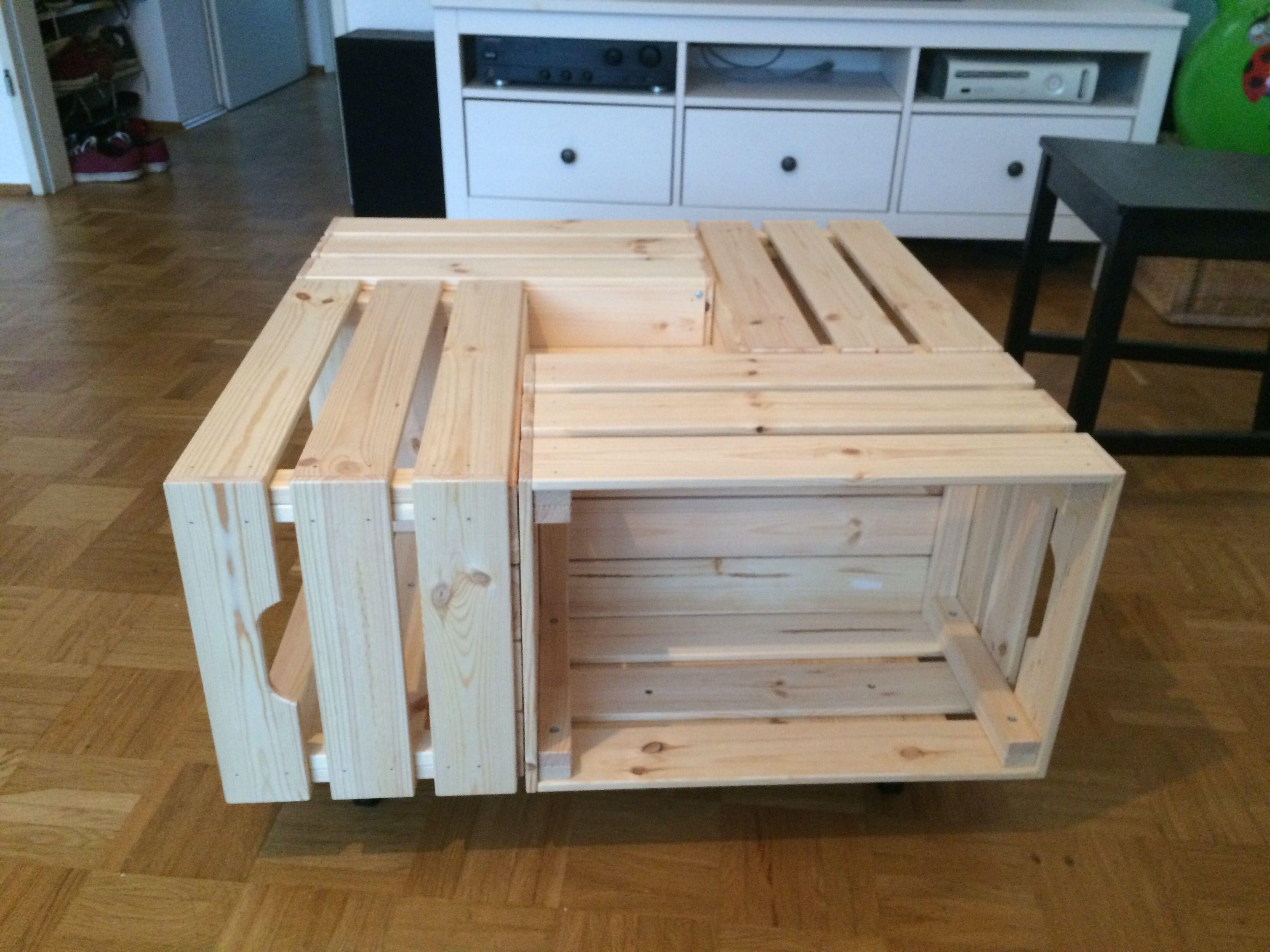 Knagglig Tisch Ikea Crates Crate Table Diy Furniture