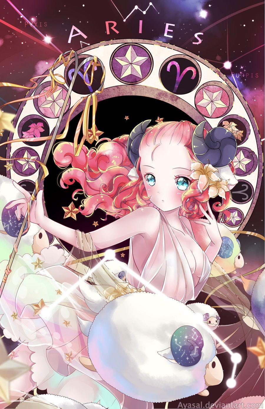 Aries Zodiacal Constellations Anime Zodiac Anime Art Anime