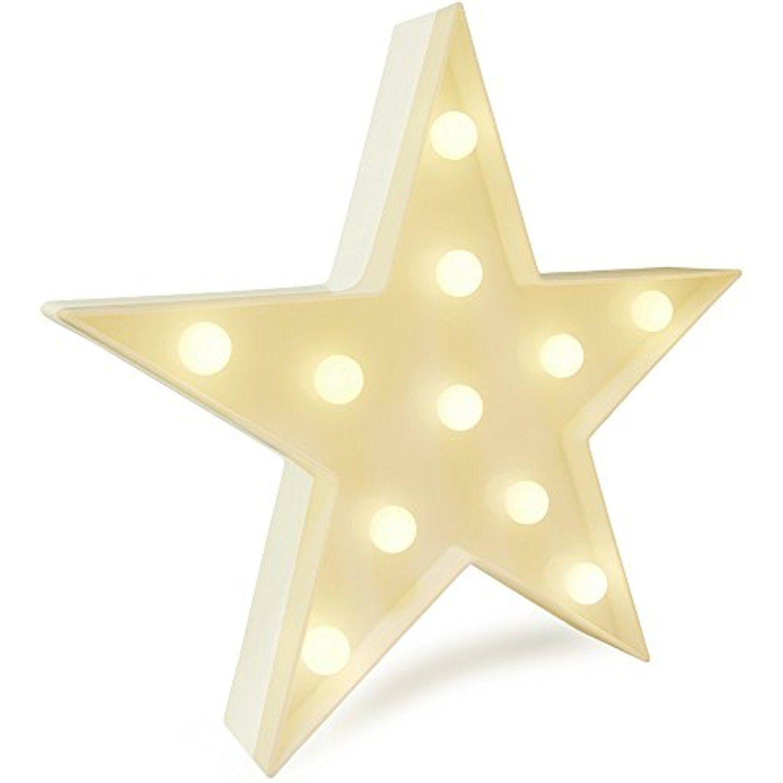 Star LED Night Light Lamp Battery Operated Table Lamp Light for ...