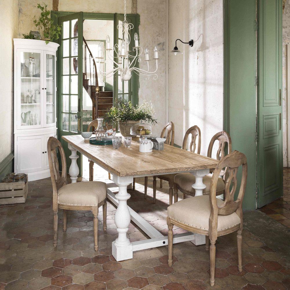 Tavolo per sala da pranzo in massello di pino L 250 cm   Sala da ...