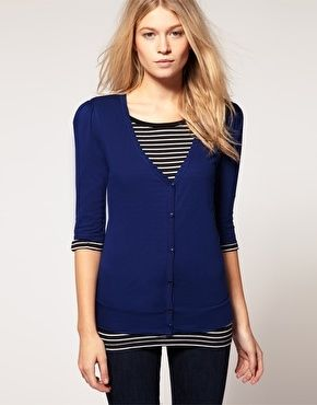 ASOS Ruched Shoulder Cardigan - StyleSays