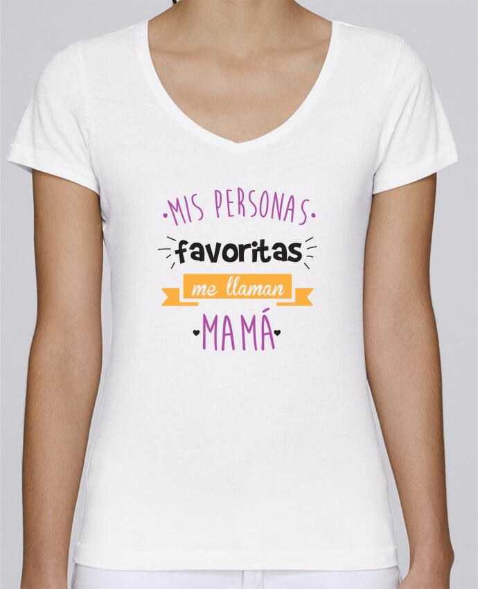 calidad superior precio de fábrica material seleccionado Camiseta Mujer Cuello en V Stella Chooses Mis personas ...