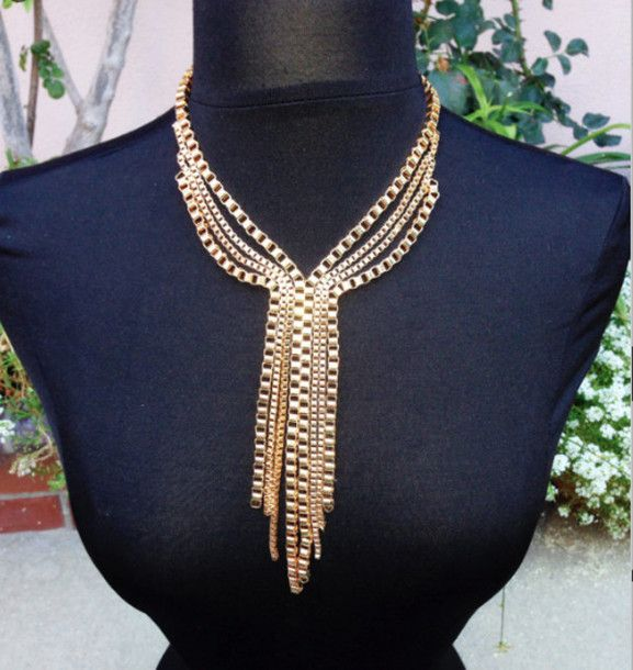 Lovely gold necklace