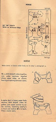retro horse pattern instructions #horsepattern