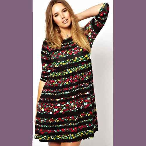 folkloric flowered hippie dress plus size:photo asos prshots
