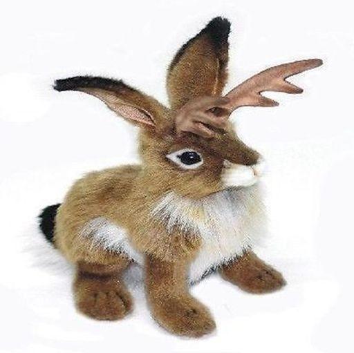 """Hansa 10"""" Jackalope Plush Stuffed Animal Toy   AA"""
