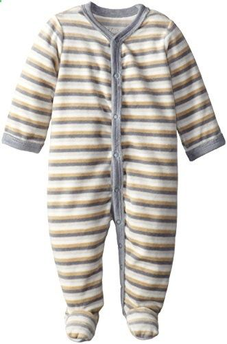 Sterling Baby by Vitamins Baby Boys Newborn Stripe Velour Coverall Grey New Born. Check website for more description.