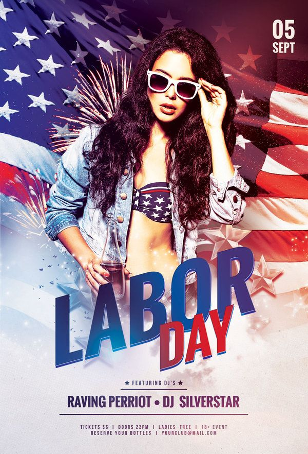 Labor Day Flyer Template By Stylewish  Club Posters  Flyer