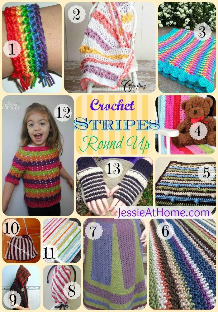Wednesday Round Up 6/11/14 ~ Stripe Crochet Patterns