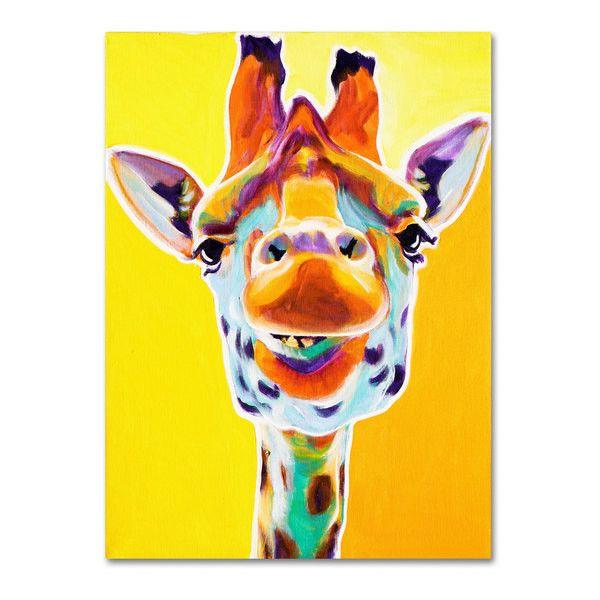 DawgArt \'Giraffe No. 3\' Canvas Art ($56) ❤ liked on Polyvore ...
