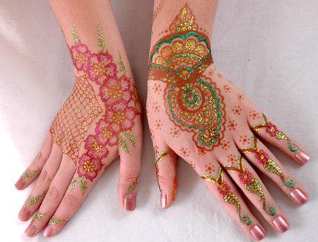 Tattoo Mehndi Tangan : Hasil gambar untuk foto henna tangan warna merah alta aneka