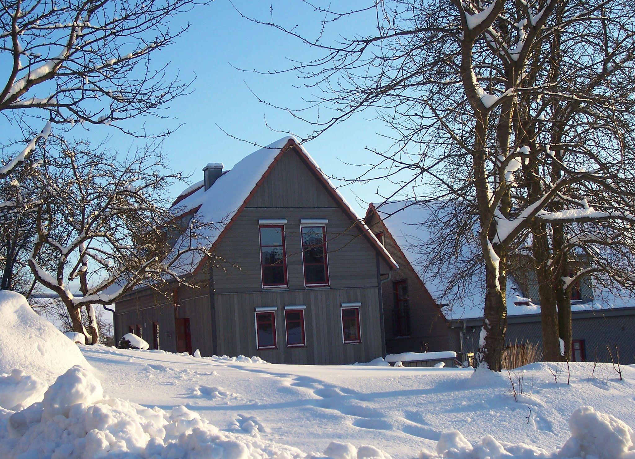 Verschneite Rhön. Das Ferienhaus im Winter. in 2019