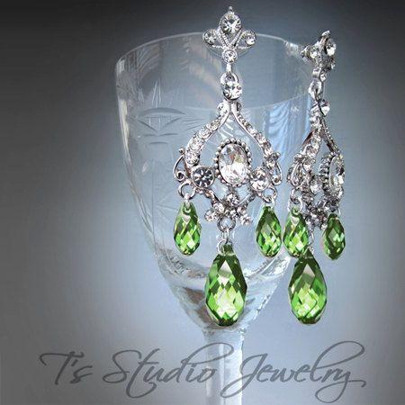 Peridot chandelier earrings peridot jewelry pinterest peridot chandelier earrings mozeypictures Choice Image