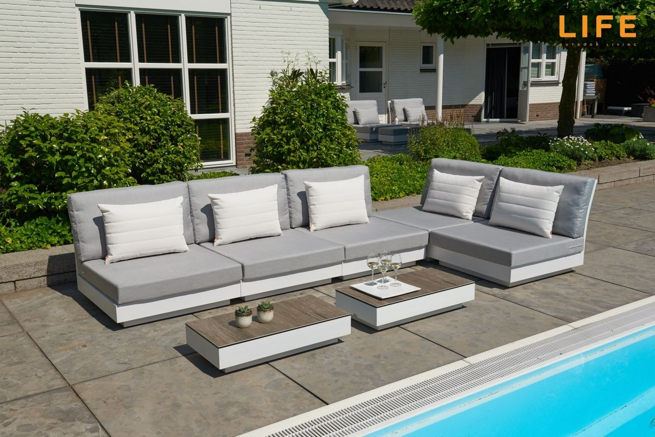 Amazing Lounge Set Passion White Garden Furniture Collection Life Outdoor Living Part 5