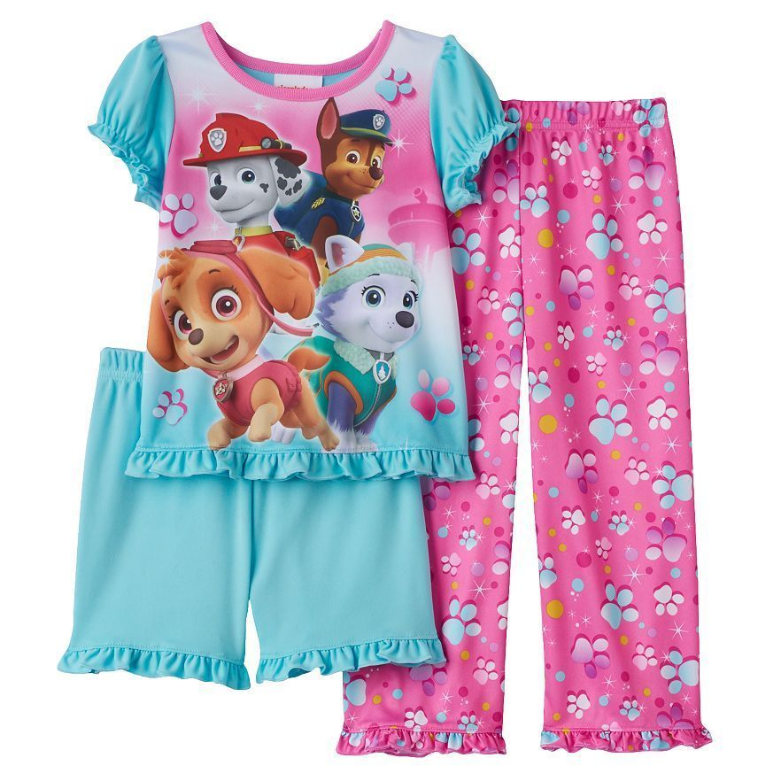 Pants /& Shorts Size 3T Nickelodeon PAW Patrol Toddler Girl/'s Pajama Shirt