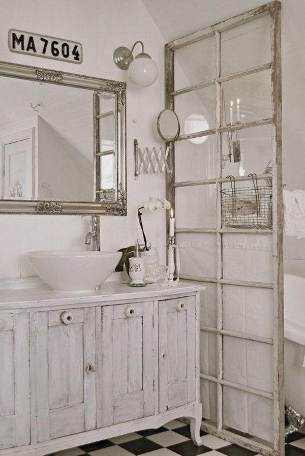 60 Awesome Shabby Chic Bathroom Ideas 2018 Chic Bathrooms